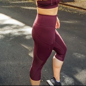 Athleta 'All In' Crop Legging in Auberge